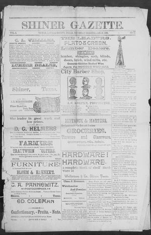 Primary view of object titled 'Shiner Gazette. (Shiner, Tex.), Vol. 2, No. 32, Ed. 1, Thursday, January 31, 1895'.