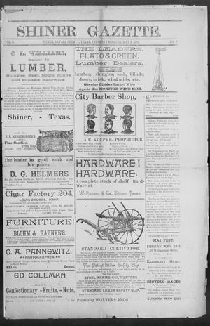 Primary view of object titled 'Shiner Gazette. (Shiner, Tex.), Vol. 2, No. 47, Ed. 1, Thursday, May 2, 1895'.