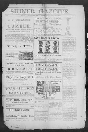 Primary view of object titled 'Shiner Gazette. (Shiner, Tex.), Vol. 3, No. 51, Ed. 1, Thursday, May 30, 1895'.