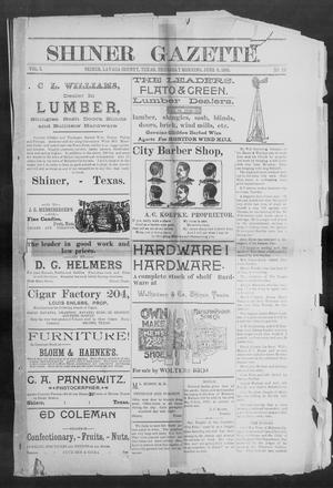 Primary view of object titled 'Shiner Gazette. (Shiner, Tex.), Vol. 3, No. 52, Ed. 1, Thursday, June 6, 1895'.