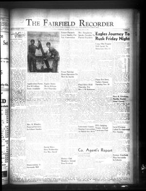 Primary view of object titled 'The Fairfield Recorder (Fairfield, Tex.), Vol. 78, No. 3, Ed. 1 Thursday, October 8, 1953'.