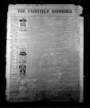 Primary view of object titled 'The Fairfield Recorder. (Fairfield, Tex.), Vol. 18, No. 39, Ed. 1 Friday, June 22, 1894'.