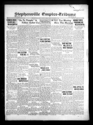 Primary view of Stephenville Empire-Tribune (Stephenville, Tex.), Vol. 70, No. 49, Ed. 1 Friday, December 6, 1940