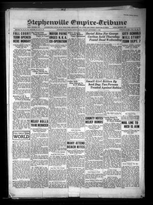 Primary view of Stephenville Empire-Tribune (Stephenville, Tex.), Vol. 62, No. 37, Ed. 1 Friday, September 1, 1933