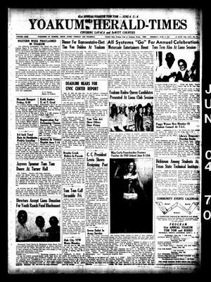 Yoakum Herald-Times (Yoakum, Tex.), Vol. 72, No. 64, Ed. 1 Thursday, June 4, 1970