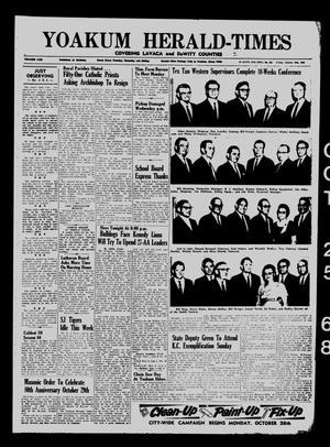 Yoakum Herald-Times (Yoakum, Tex.), Vol. 70, No. 126, Ed. 1 Friday, October 25, 1968