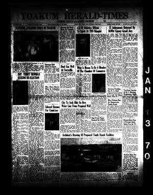 Yoakum Herald-Times (Yoakum, Tex.), Vol. 72, No. 5, Ed. 2 Tuesday, January 13, 1970