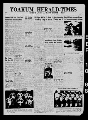 Yoakum Herald-Times (Yoakum, Tex.), Vol. 70, No. 106, Ed. 1 Tuesday, September 10, 1968