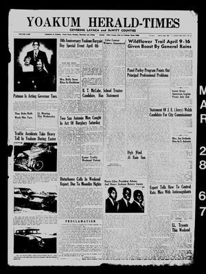 Yoakum Herald-Times (Yoakum, Tex.), Vol. 69, No. 36, Ed. 1 Tuesday, March 28, 1967