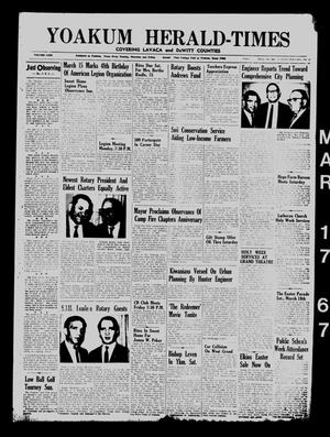 Yoakum Herald-Times (Yoakum, Tex.), Vol. 69, No. 32, Ed. 1 Friday, March 17, 1967