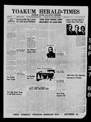Yoakum Herald-Times (Yoakum, Tex.), Vol. 70, No. 114, Ed. 1 Friday, September 27, 1968