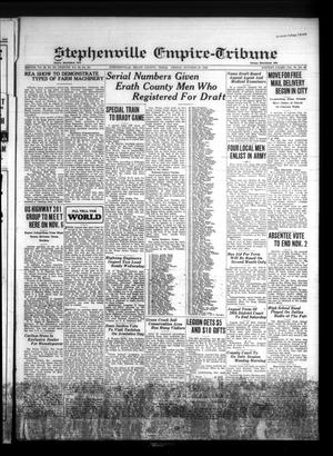 Primary view of Stephenville Empire-Tribune (Stephenville, Tex.), Vol. 70, No. 43, Ed. 1 Friday, October 25, 1940