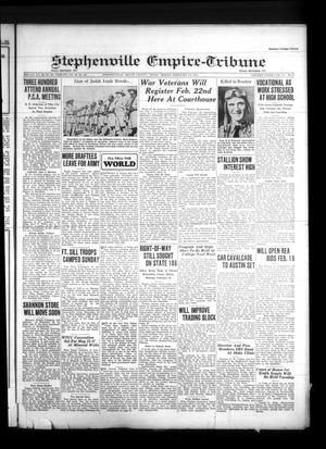Primary view of Stephenville Empire-Tribune (Stephenville, Tex.), Vol. 71, No. 7, Ed. 1 Friday, February 14, 1941