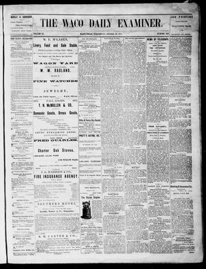 Primary view of object titled 'The Waco Daily Examiner. (Waco, Tex.), Vol. 3, No. 242, Ed. 1, Wednesday, October 20, 1875'.