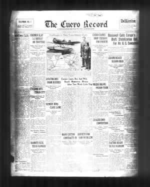 Primary view of object titled 'The Cuero Record (Cuero, Tex.), Vol. 39, No. 157, Ed. 1 Monday, July 3, 1933'.