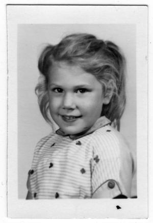 [First Grade Picture of a Girl Named Shaun]