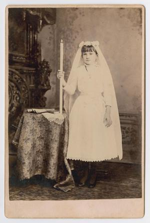 Primary view of object titled '[Girl in White Dress]'.