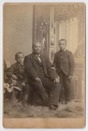 Primary view of object titled '[Unknown African American Man with Children]'.