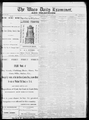 Primary view of The Waco Daily Examiner. (Waco, Tex.), Vol. 13, No. 262, Ed. 1, Sunday, January 8, 1882