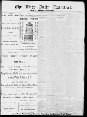Primary view of object titled 'The Waco Daily Examiner. (Waco, Tex.), Vol. 13, No. 264, Ed. 1, Wednesday, January 11, 1882'.
