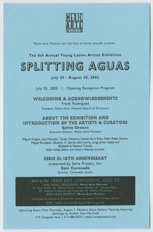 [Flyer: Splitting Aguas]