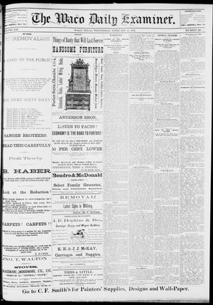 Primary view of object titled 'The Waco Daily Examiner. (Waco, Tex.), Vol. 13, No. 294, Ed. 1, Wednesday, February 15, 1882'.