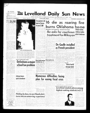 Primary view of object titled 'The Levelland Daily Sun News (Levelland, Tex.), Vol. 17, No. 81, Ed. 1 Thursday, January 8, 1959'.