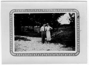 Primary view of object titled '[Unidentified Man and Woman]'.