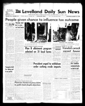 Primary view of object titled 'The Levelland Daily Sun News (Levelland, Tex.), Vol. 17, No. 135, Ed. 1 Wednesday, March 18, 1959'.
