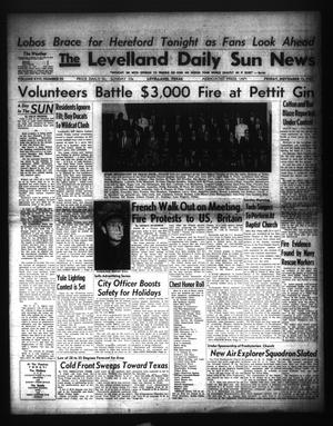 Primary view of object titled 'The Levelland Daily Sun News (Levelland, Tex.), Vol. 17, No. 55, Ed. 1 Friday, November 15, 1957'.
