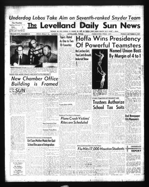 Primary view of object titled 'The Levelland Daily Sun News (Levelland, Tex.), Vol. 17, No. 25, Ed. 1 Friday, October 4, 1957'.