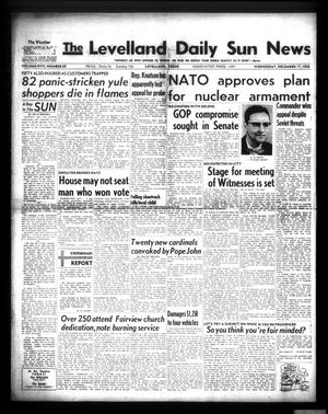 Primary view of object titled 'The Levelland Daily Sun News (Levelland, Tex.), Vol. 17, No. 65, Ed. 1 Wednesday, December 17, 1958'.