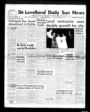 Primary view of object titled 'The Levelland Daily Sun News (Levelland, Tex.), Vol. 17, No. 176, Ed. 1 Wednesday, May 6, 1959'.