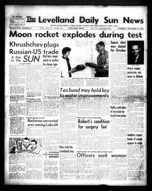 Primary view of The Levelland Daily Sun News (Levelland, Tex.), Vol. 18, No. 22, Ed. 1 Thursday, September 24, 1959