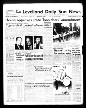 Primary view of object titled 'The Levelland Daily Sun News (Levelland, Tex.), Vol. 17, No. 116, Ed. 1 Tuesday, February 24, 1959'.