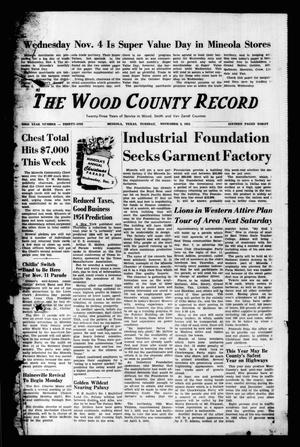 Primary view of object titled 'The Wood County Record (Mineola, Tex.), Vol. 23, No. 31, Ed. 1 Tuesday, November 3, 1953'.