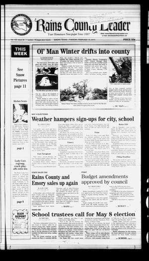 Rains County Leader (Emory, Tex.), Vol. 123, No. 35, Ed. 1 Tuesday, February 16, 2010