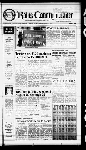 Rains County Leader (Emory, Tex.), Vol. 124, No. 10, Ed. 1 Tuesday, August 17, 2010