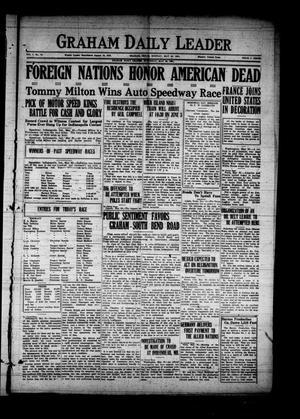 Graham Daily Leader (Graham, Tex.), Vol. 1, No. 70, Ed. 1 Monday, May 30, 1921