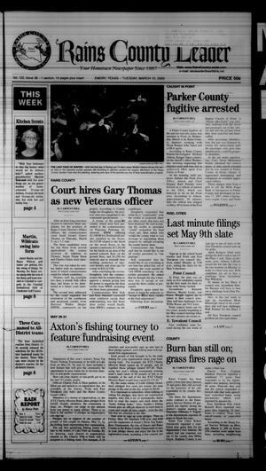 Rains County Leader (Emory, Tex.), Vol. 122, No. 38, Ed. 1 Tuesday, March 10, 2009