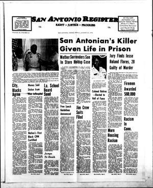 San Antonio Register (San Antonio, Tex.), Vol. 45, No. 21, Ed. 1 Friday, August 27, 1976