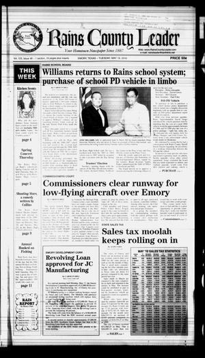 Rains County Leader (Emory, Tex.), Vol. 123, No. 48, Ed. 1 Tuesday, May 18, 2010