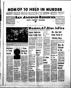 San Antonio Register (San Antonio, Tex.), Vol. 44, No. 25, Ed. 1 Friday, December 6, 1974