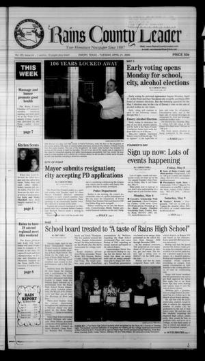 Rains County Leader (Emory, Tex.), Vol. 123, No. 44, Ed. 1 Tuesday, April 21, 2009