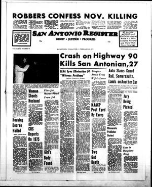 San Antonio Register (San Antonio, Tex.), Vol. 44, No. 36, Ed. 1 Friday, February 20, 1976