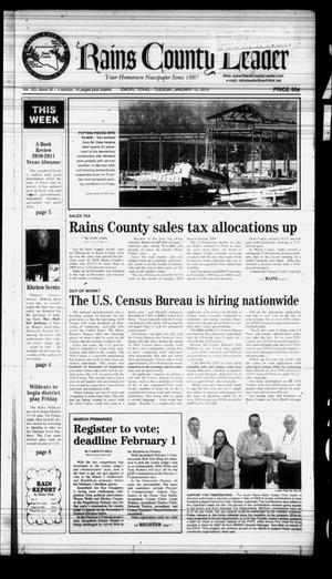 Primary view of object titled 'Rains County Leader (Emory, Tex.), Vol. 123, No. 30, Ed. 1 Tuesday, January 12, 2010'.