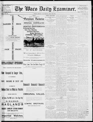Primary view of object titled 'The Waco Daily Examiner. (Waco, Tex.), Vol. 15, No. 192, Ed. 1, Saturday, July 29, 1882'.
