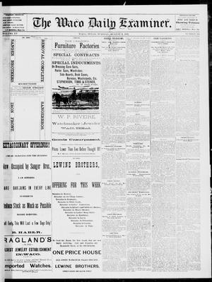 Primary view of object titled 'The Waco Daily Examiner. (Waco, Tex.), Vol. 15, No. 194, Ed. 1, Tuesday, August 1, 1882'.