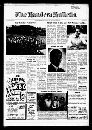 The Bandera Bulletin (Bandera, Tex.), Vol. 33, No. 14, Ed. 1 Friday, September 2, 1977