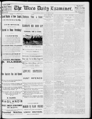 Primary view of object titled 'The Waco Daily Examiner. (Waco, Tex.), Vol. 15, No. 217, Ed. 1, Sunday, August 27, 1882'.